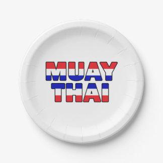 Muay Thai 7 Inch Paper Plate