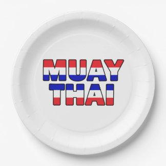 Muay Thai 9 Inch Paper Plate