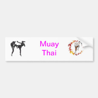 Muay Thai Bumper Sticker