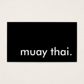 muay thai. business card