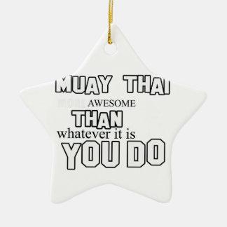 muay thai design ceramic ornament