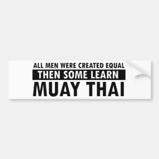Muay Thai designs Bumper Sticker