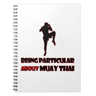 muay thai Designs Spiral Notebook