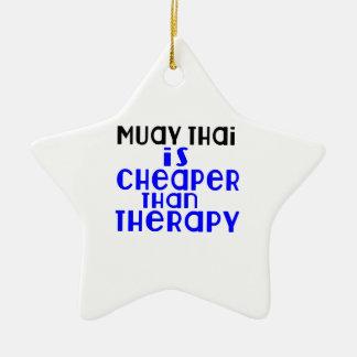Muay Thai Is Cheaper  Than Therapy Ceramic Ornament