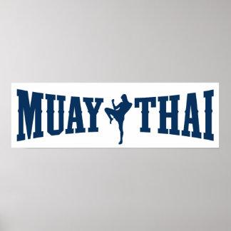 Muay Thai Logo Poster