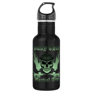 Muay Thai, Martial Arts, Kick Boxing and Skull 532 Ml Water Bottle