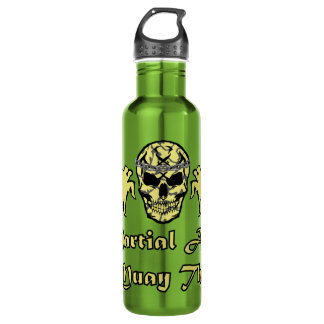 Muay Thai, Martial Arts, Kick Boxing and Skull 710 Ml Water Bottle
