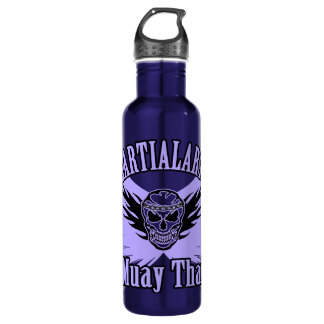 Muay Thai, Martial Arts, Kick Boxing and Skull 710 Ml Water Bottle