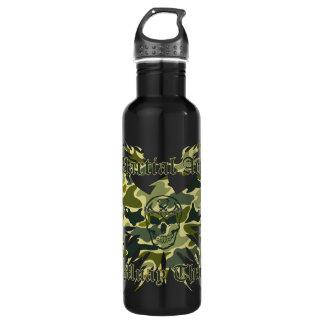 Muay Thai, Martial Arts, Skull, Garuda and Camo 710 Ml Water Bottle