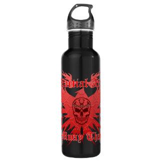 Muay Thai, Martial Arts, Skull, Garuda and Gun 710 Ml Water Bottle