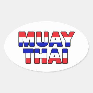 Muay Thai Oval Sticker