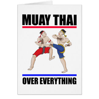 Muay Thai over everything Card