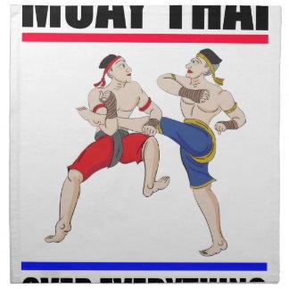 Muay Thai over everything Cloth Napkin