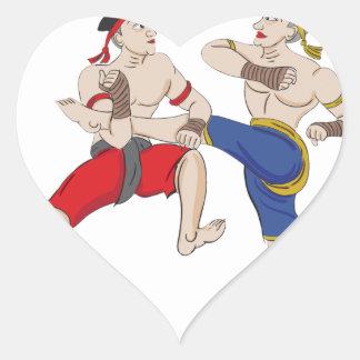 Muay Thai over everything Heart Sticker