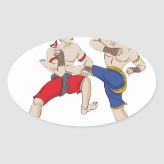 Muay Thai over everything Oval Sticker