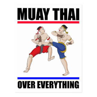 Muay Thai over everything Postcard
