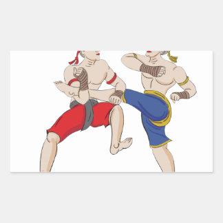 Muay Thai over everything Rectangular Sticker