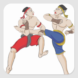 Muay Thai over everything Square Sticker