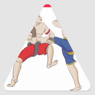 Muay Thai over everything Triangle Sticker