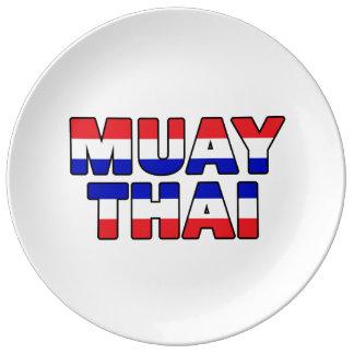 Muay Thai Porcelain Plate