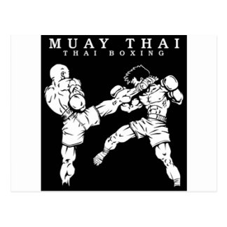 muay thai postcard