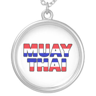 Muay Thai Silver Plated Necklace