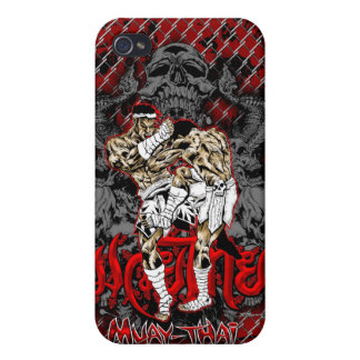 Muay-Thai Skull Warrior iPhone 4 Case For iPhone 4