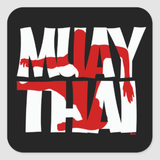 Muay Thai Square Sticker