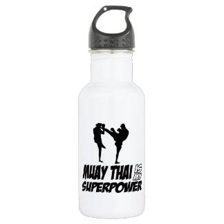 Muay Thai Superpower Designs 532 Ml Water Bottle