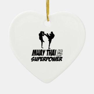 Muay Thai Superpower Designs Ceramic Ornament