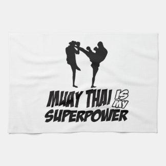 Muay Thai Superpower Designs Kitchen Towel