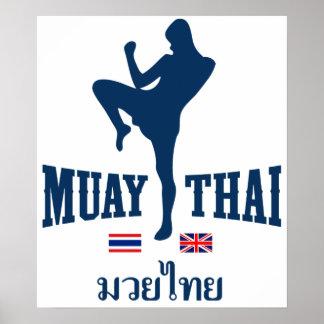 Muay Thai Thailand United Kingdom Poster
