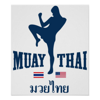 Muay Thai Thailand USA Poster