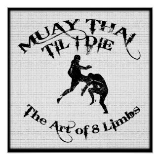 Muay Thai Til I Die - Art of 8 Limbs Poster