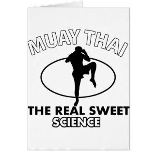 Muay Thai Vector designs Card
