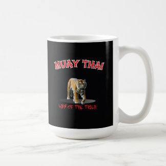 Muay Thai Way of The Tiger Black Mug