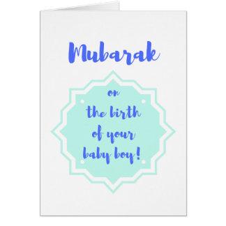 Mubarak on the Birth of Your Baby Boy! -Card Card