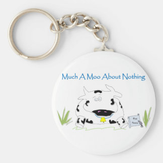 Much A Moo About Nothing Basic Round Button Key Ring