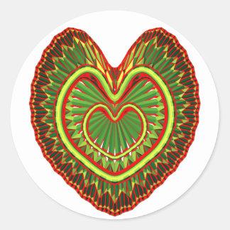 Much Love Classic Round Sticker