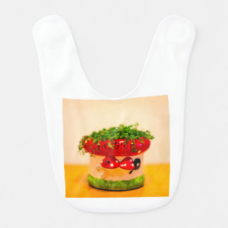 Much luck flower pot bib