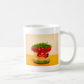 Much luck flower pot coffee mug