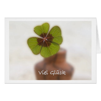 Much luck greeting card