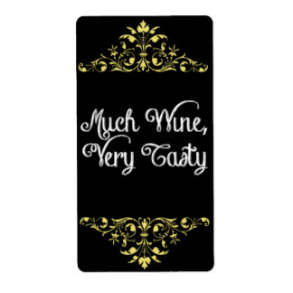 Much Wine, Very Tasty - Wine Label Shipping Label