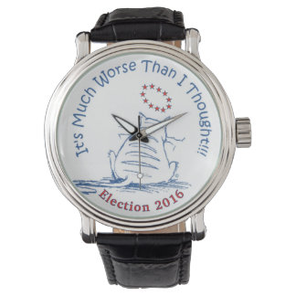 Much Worse Election 2016 classic wristwatch