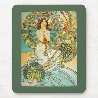 Mucha Art Nouveau Monte Carol Mousepad