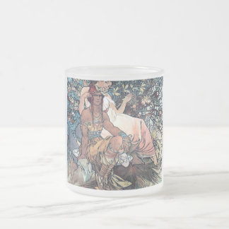 Mucha art woman man native american mug