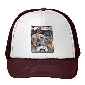 mucha biscuits Lefevre utile 1897 advertisement Hat