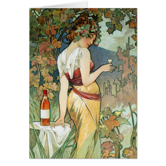 Mucha Card or Invitation:  Cognac