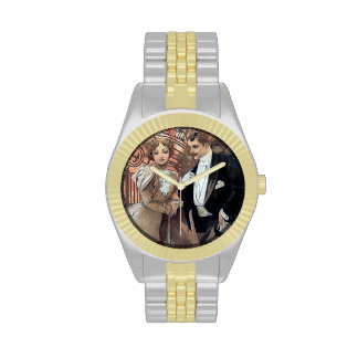Mucha Flirt Woman man love romance Wrist Watch