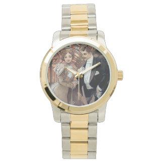 Mucha Flirt Woman man love romance Wrist Watches